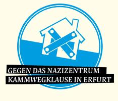 Banner zur Kampagne gegen das Nazizentrum Kammwegklause in Erfurt